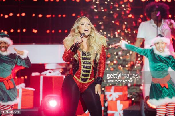 Mariah Carey performs ÒAll I Want For Christmas is YouÓ from her 25th Anniversary album reissue of Merry Christmas during The Late Late Show with...
