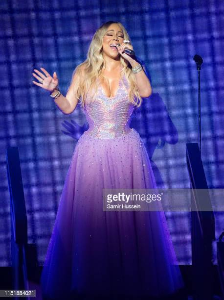 Mariah Carey performs as part of her Caution World Tour at Royal Albert Hall on May 26 2019 in London England The three night residency marks the...