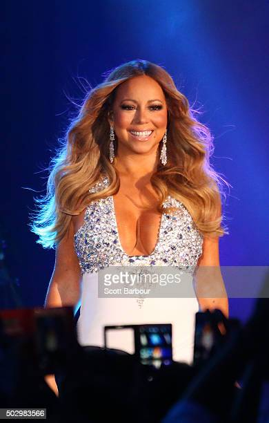 Mariah Carey performs at Crown Casino's New Year's Eve Party at Crown Palladium on December 31 2015 in Melbourne Australia