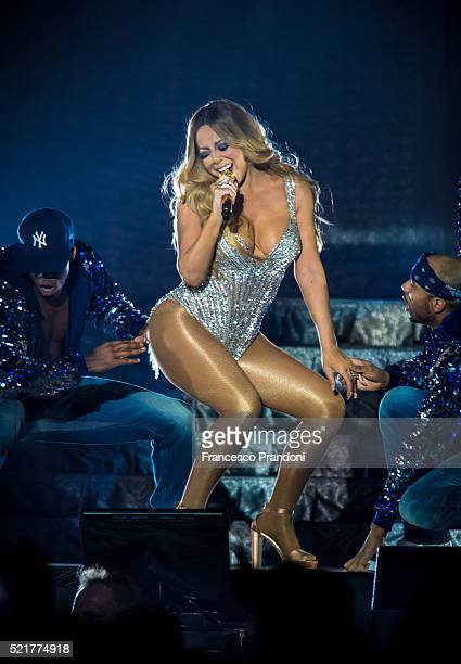 Mariah Carey performs at Mediolanum Forum on April 16, 2016 in Milan, Italy.