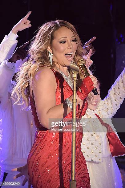 Mariah Carey performs at the 82nd annual Rockefeller Christmas Tree Lighting Ceremony at Rockefeller Center on December 3 2014 in New York City