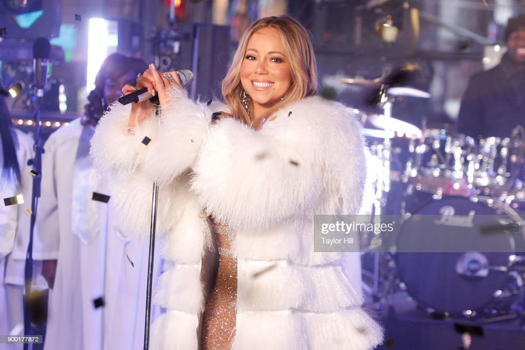 Mariah Carey performs during Dick Clark's New Year's Rockin' Eve at Times Square on December 31, 2017 in New York City.