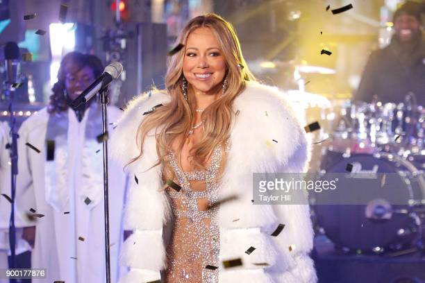Mariah Carey performs during Dick Clark's New Year's Rockin' Eve at Times Square on December 31 2017 in New York City