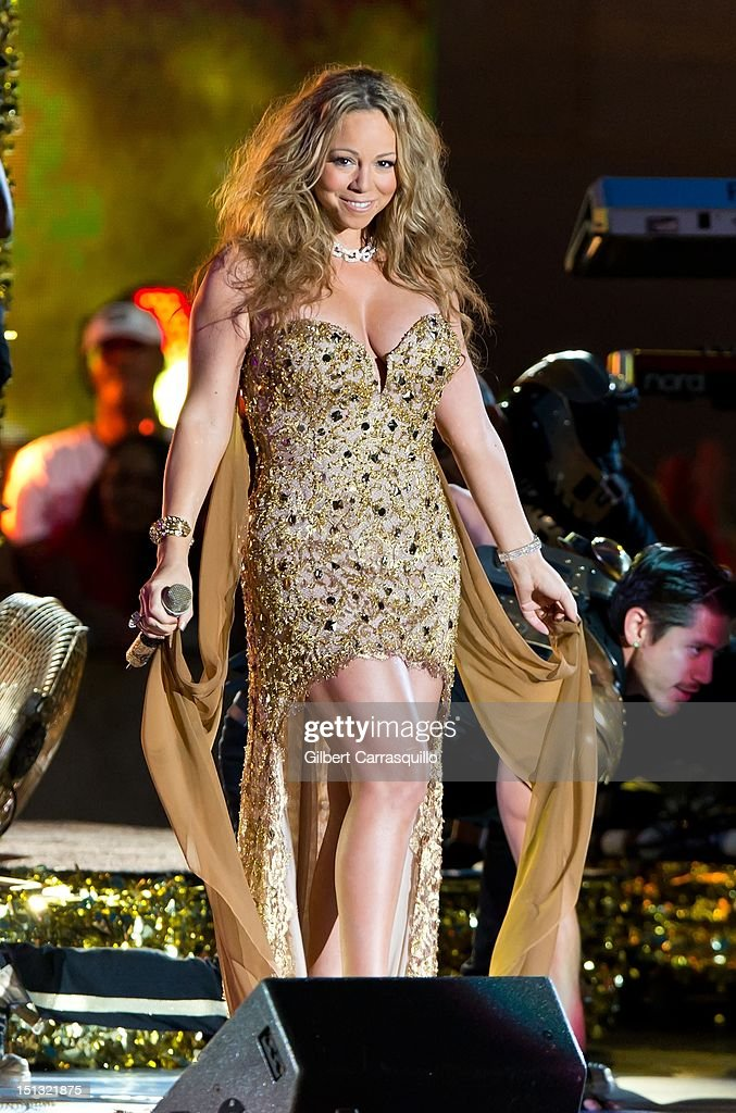 Mariah Carey performs during the 2012 NFL Kick-Off Concert in Rockefeller Center on September 5, 2012 in New York City.