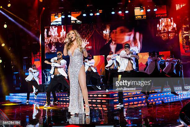 Mariah Carey performs during the 2016 Essence Music Festival at the MercedesBenz Superdome on July 2 2016 in New Orleans Louisiana