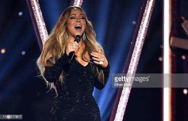 Mariah Carey performs during the 2019 Billboard Music Awards at MGM Grand Garden Arena on May 1 2019 in Las Vegas Nevada