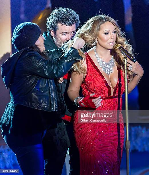 Mariah Carey performs during the 82nd Annual Rockefeller Christmas Tree Lighting Ceremony at Rockefeller Center on December 3 2014 in New York City