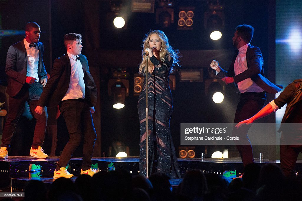 Mariah Carey performs during the ceremony of the World Music Awards 2014 at Sporting Monte-Carlo on May 27, 2014 in Monte-Carlo, Monaco.