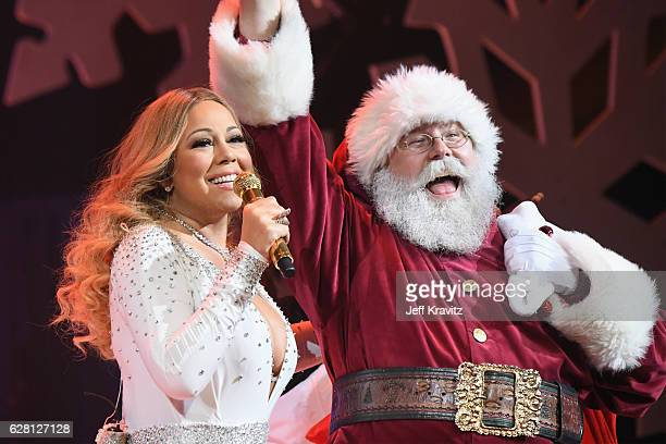 Mariah Carey performs during the opening show of Mariah Carey All I Want For Christmas Is You at Beacon Theatre on December 5 2016 in New York City