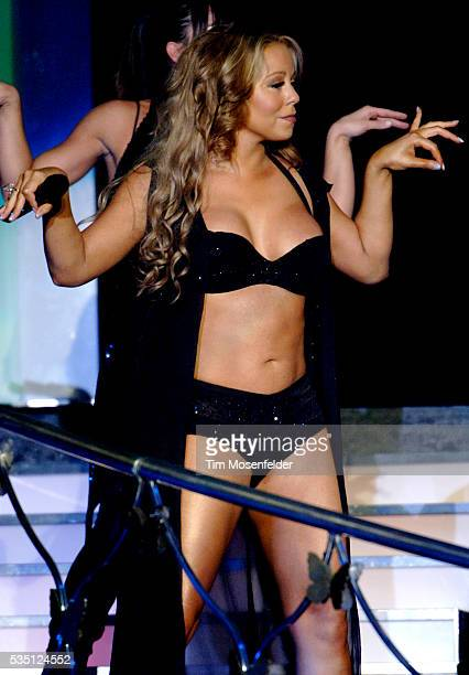 Mariah Carey performs her The Adventures of Mimi World Tour at the Oakland Arena in Oakland California