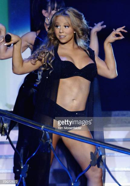 Mariah Carey performs in support of the her worldwide The Adventures of Mimi tour at the Oakland Arena on October 3 2006 in Oakland California