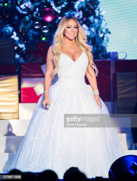 Mariah Carey performs live during her All I Want For Christmas Is You tour at Motorpoint Arena on December 09, 2018 in Nottingham, England.