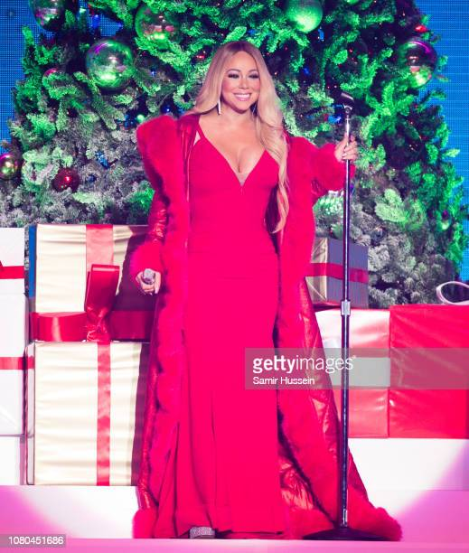 Mariah Carey performs live during her All I Want For Christmas Is You tour at Motorpoint Arena on December 09 2018 in Nottingham England