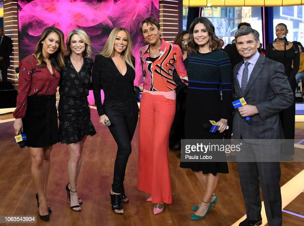 """Mariah Carey performs live on """"Good Morning America,"""" on Monday, November 19, 2018 on Walt Disney Television via Getty Images. GINGER ZEE, AMY..."""
