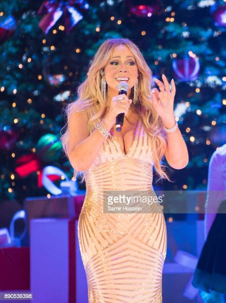Mariah Carey performs live on stage at The O2 Arena on December 11 2017 in London England