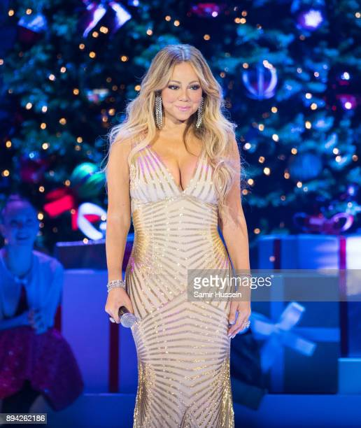 Mariah Carey performs live on stage at The O2 Arena on December 11, 2017 in London, England.