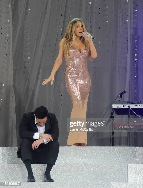 """Mariah Carey performs on ABC's """"Good Morning America"""" at Rumsey Playfield, Central Park on May 24, 2013 in New York City."""