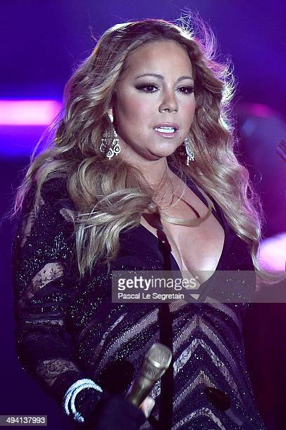 Mariah Carey performs on stage during the ceremony of the World Music Awards at Sporting MonteCarlo on May 27 2014 in MonteCarlo Monaco