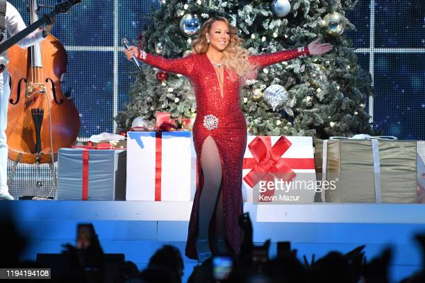Mariah Carey performs onstage during her All I Want For Christmas Is You tour at Madison Square Garden on December 15 2019 in New York City