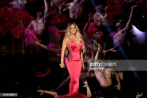 Mariah Carey performs onstage during the 2018 American Music Awards at Microsoft Theater on October 9, 2018 in Los Angeles, California.