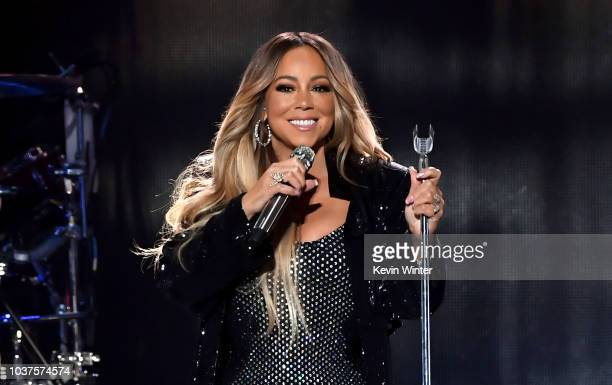 Mariah Carey performs onstage during the 2018 iHeartRadio Music Festival at TMobile Arena on September 21 2018 in Las Vegas Nevada