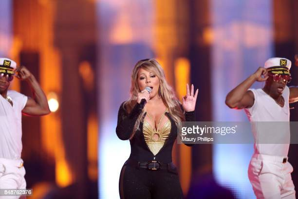 Mariah Carey performs onstage during VH1 Hip Hop Honors The 90s Game Changers at Paramount Studios on September 17 2017 in Los Angeles California