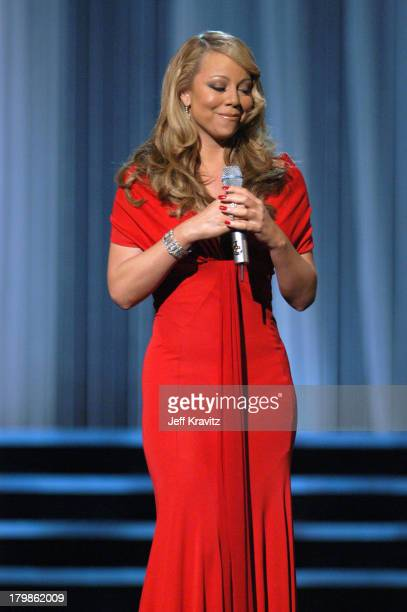 Mariah Carey performs We Belong Together during 2005 MTV Movie Awards Show at Shrine Auditorium in Los Angeles California United States