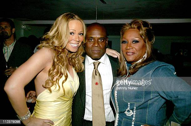 "Mariah Carey, LA Reid and Patti Labelle during Mariah Carey's Sweet 16th with ""We Belong Together"" Shares Pantheon with The Beatles and Elvis Presley..."