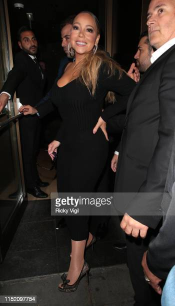 Mariah Carey seen arriving at Novikov restaurant in Mayfair after her gig at Royal Albert Hall on May 27 2019 in London England
