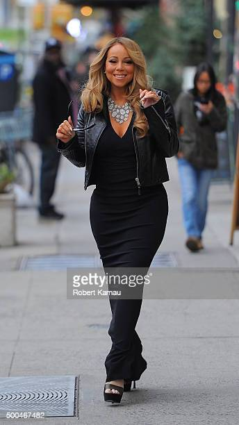 Mariah Carey seen out on December 8 2015 in New York City