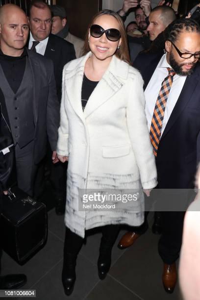 Mariah Carey sighting on December 11 2018 in London England