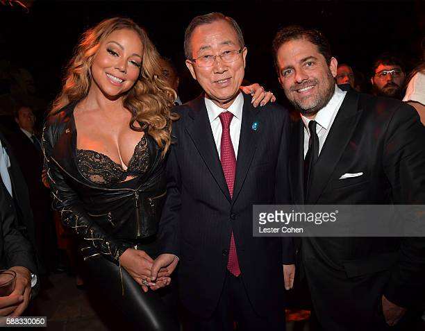 Mariah Carey UN SecretaryGeneral Ban Kimoon and host Brett Ratner attend the special event for UN SecretaryGeneral Ban Kimoon hosted by Brett Ratner...