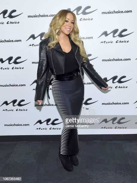 Mariah Carey visits Music Choice at Music Choice on November 16 2018 in New York City