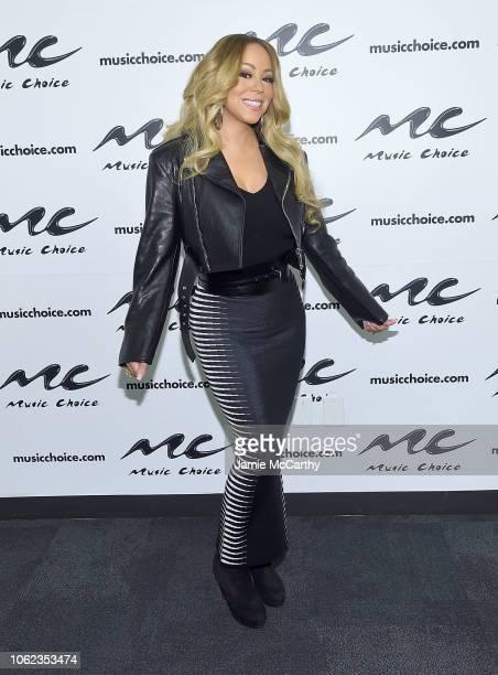 Mariah Carey visits Music Choice at Music Choice on November 16, 2018 in New York City.