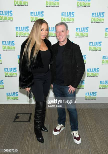 Mariah Carey visits The Elvis Duran Z100 Morning Show with Elvis Duran at Z100 Studio on November 20 2018 in New York City