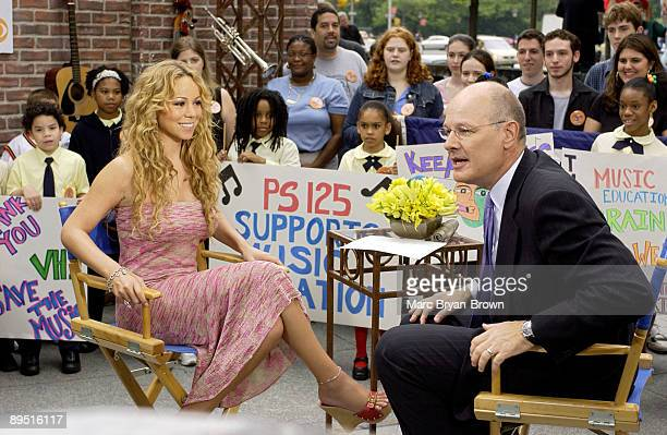 Mariah Carey with CBS's The Early Show Anchor Harry Smith