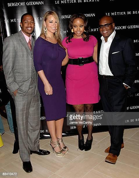Mariah CareyNick CannonChrisette Michele and Antonio LA Reid attend the launch of Le Metier De Beaute cosmetics at Bergdorf Goodman on October 23...