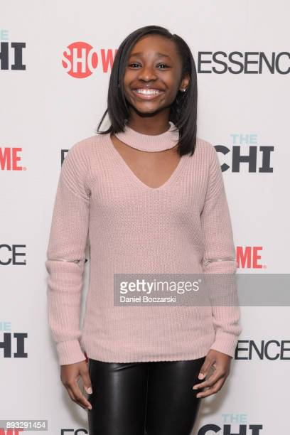 Mariah Gordon attends an advance screening of Showtime's 'The Chi' on Chicago's South Side at SMG Chatham on December 14 2017 in Chicago Illinois