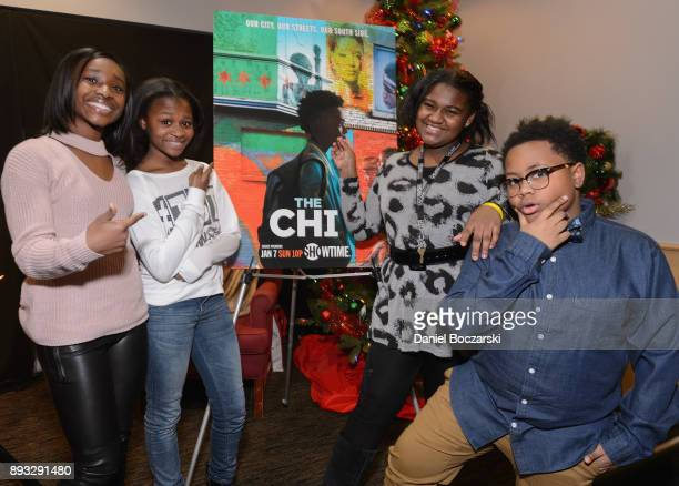 Mariah Gordon Morela Rina Bryant Genisis Hale and Shamon Brown Jr attend an advance screening of Showtime's 'The Chi' on Chicago's South Side at SMG...