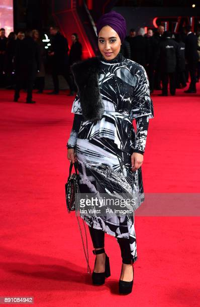 Mariah Idrissi attending the european premiere of Star Wars The Last Jedi held at The Royal Albert Hall London PRESS ASSOCIATION Photo Picture date...