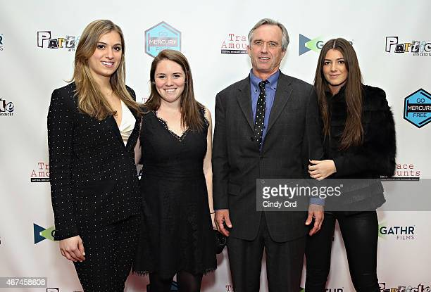 Mariah Kennedy Cuomo Kellie Kennedy Robert F Kennedy Jr and Kyra Kennedy attend the New York City screening of 'Trace Amounts' at New York University...