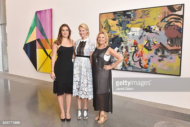 Mariah Kennedy Cuomo Sandra Lee and Deborah Halpert attend the Midsummer Party 2016 at Parrish Art Museum on July 9 2016 in Water Mill New York