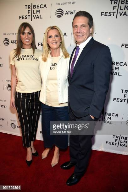Mariah Kennedy Cuomo Sandra Lee and New York Governor Andrew Cuomo attend the HBO Documentary Film RX Early Detection A Cancer Journey With Sandra...