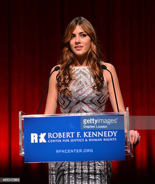 Mariah Kennedy Cuomo speaks onstage at Robert F Kennedy Center For Justice And Human Rights 2013 Ripple Of Hope Awards Dinner at New York Hilton...