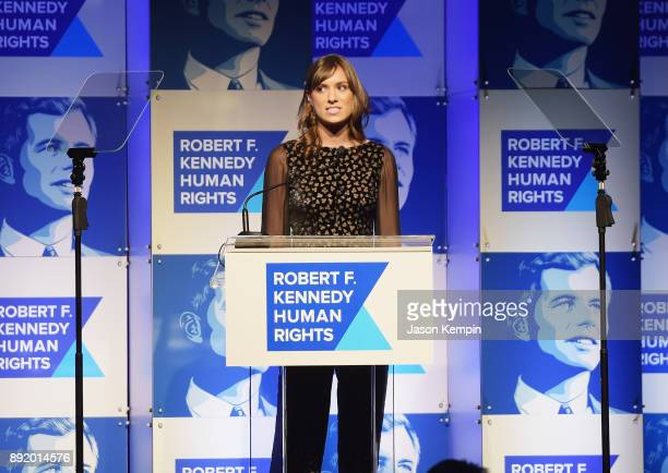 Mariah Kennedy Cuomo speaks onstage during Robert F Kennedy Human Rights Hosts Annual Ripple Of Hope Awards Dinner on December 13 2017 in New York...