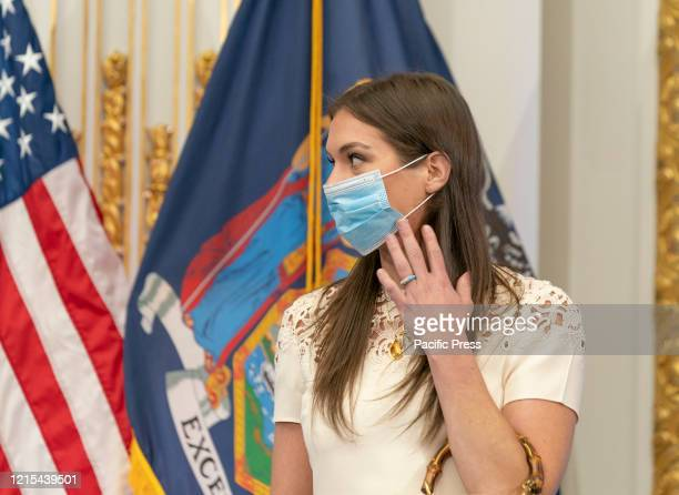 Mariah KennedyCuomo attends Governor Andrew Cuomo announcement and briefing on COVID19 response at New York Stock Exchange