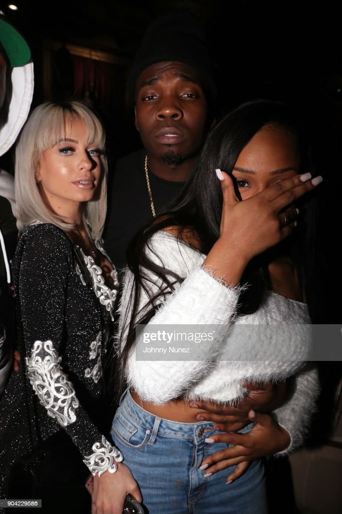 Mariah Lynn, Jaquae, and Kiyanne attend Bianca Bonnie's '10 Plus' Album Release Party at Le Souk on January 11, 2018 in New York City.
