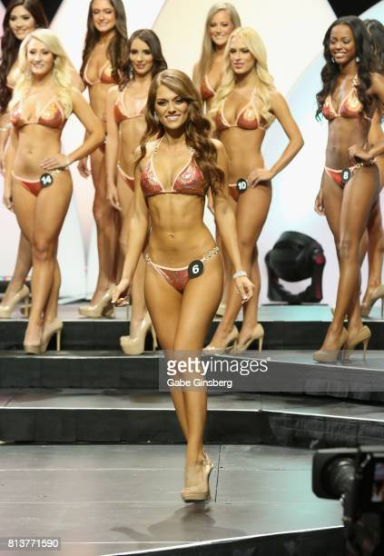 Mariah Materiale of Cape Coral Florida competes during the 21st annual Hooters International Swimsuit Pageant at The Pearl concert theater at Palms...