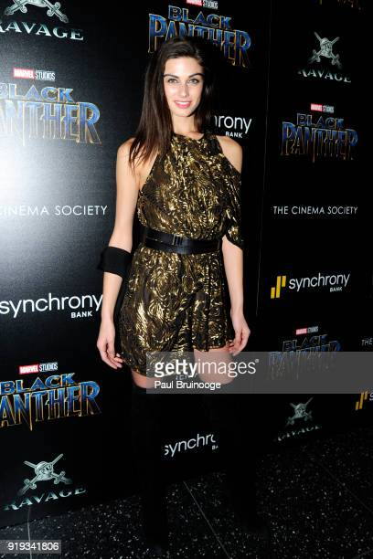 Mariah Strongin attends The Cinema Society with Ravage Wines Synchrony host a screening of Marvel Studios' 'Black Panther' at The Museum of Modern...