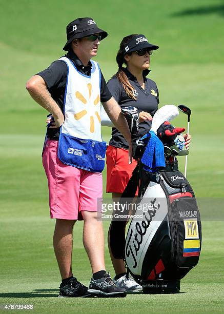 Mariajo Uribe of Colombia plays a shot on the eighth hole during the second round of the Walmart NW Arkansas Championship Presented by PG at Pinnacle...